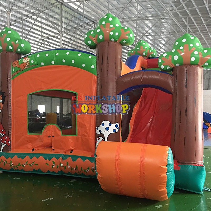 PVC tarpaulin small inflatable bouncy house with slide