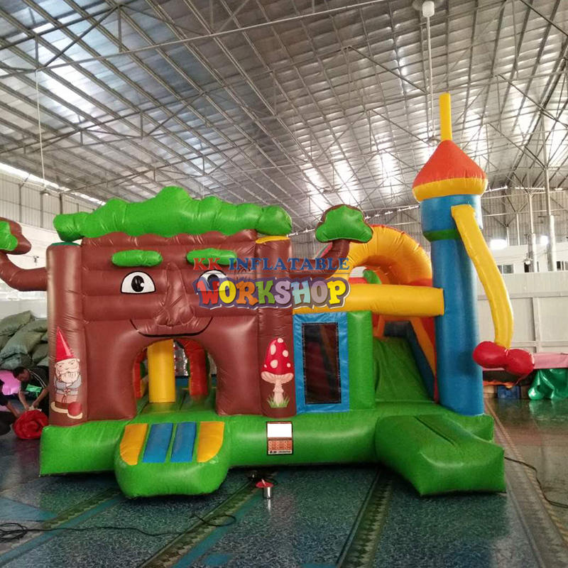 Small Inflatable Trampoline Castle Cartoon