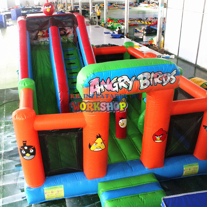 Inflatable bouncer castle with slide