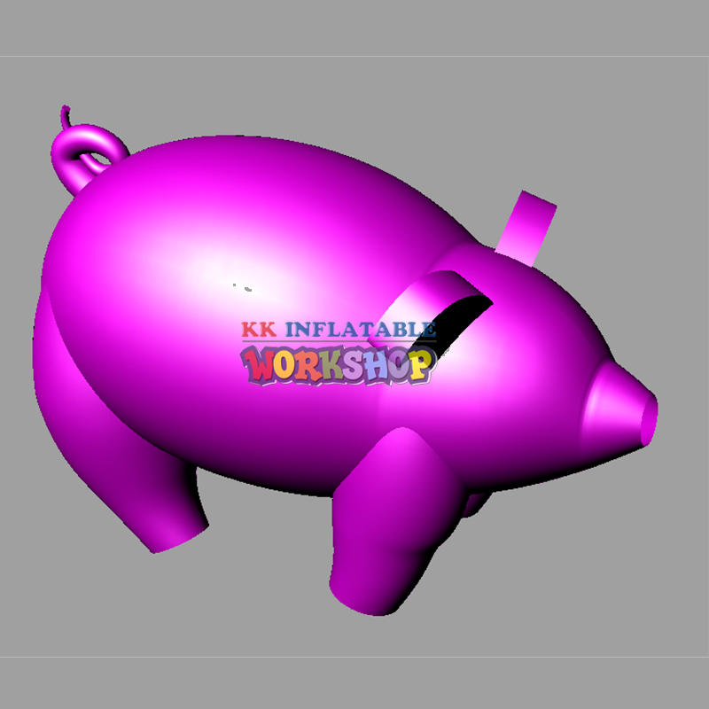 inflatable flying pig for display
