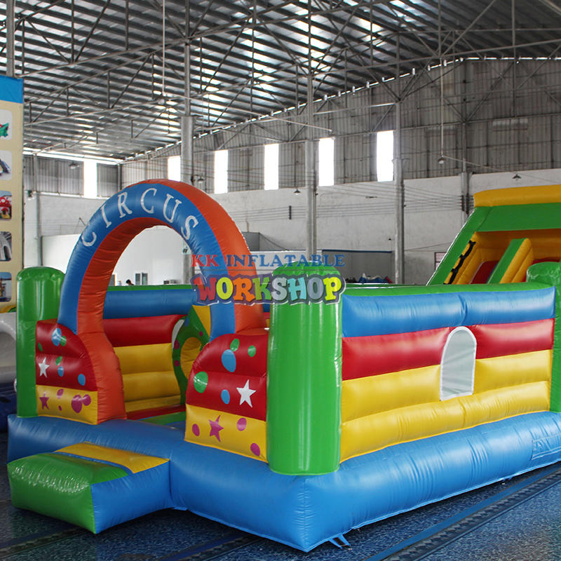 inflatable bounce house and slide combo design