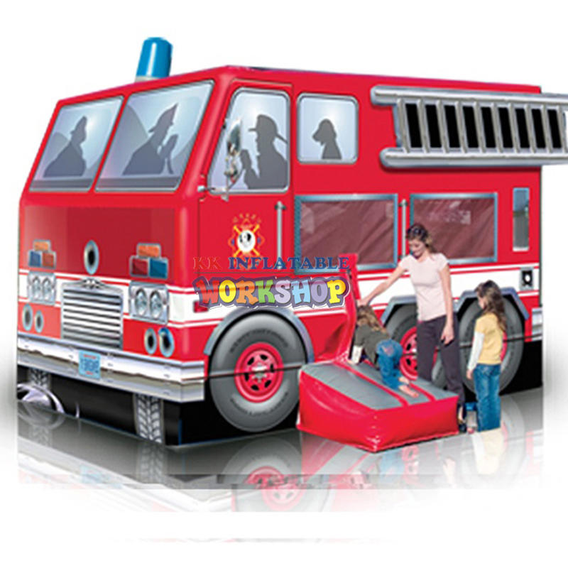 Inflatable fire truck bouncy
