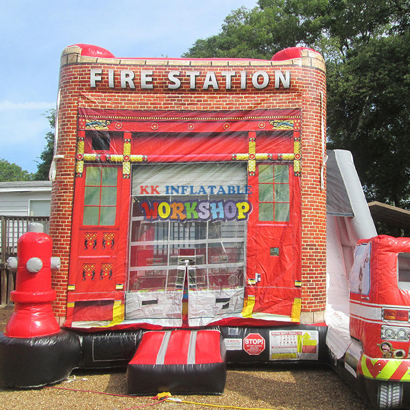 commercial Fire truck inflatable slide