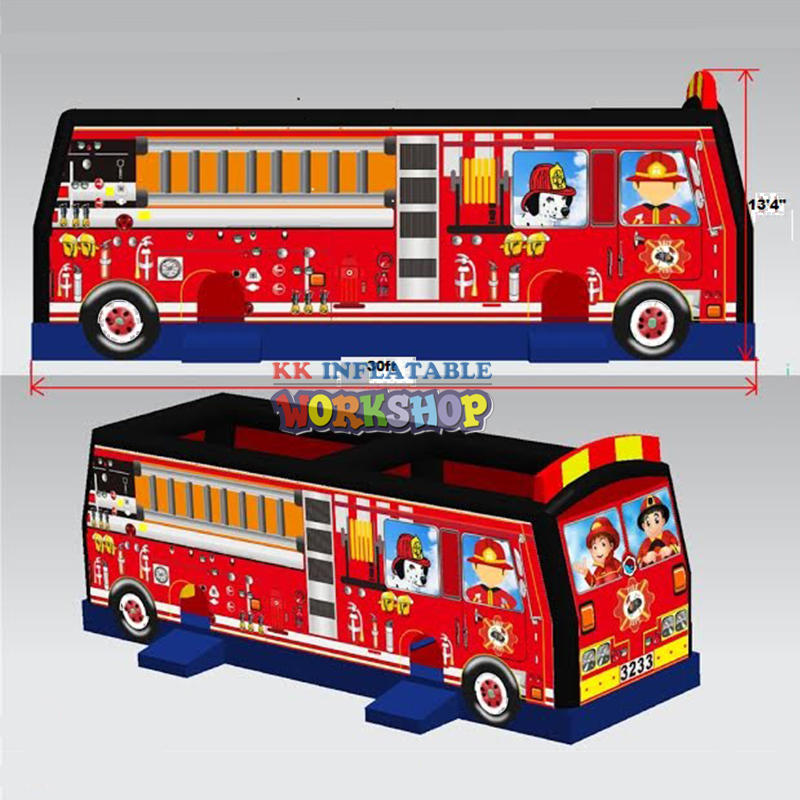 commercial inflatable fire fighting truck