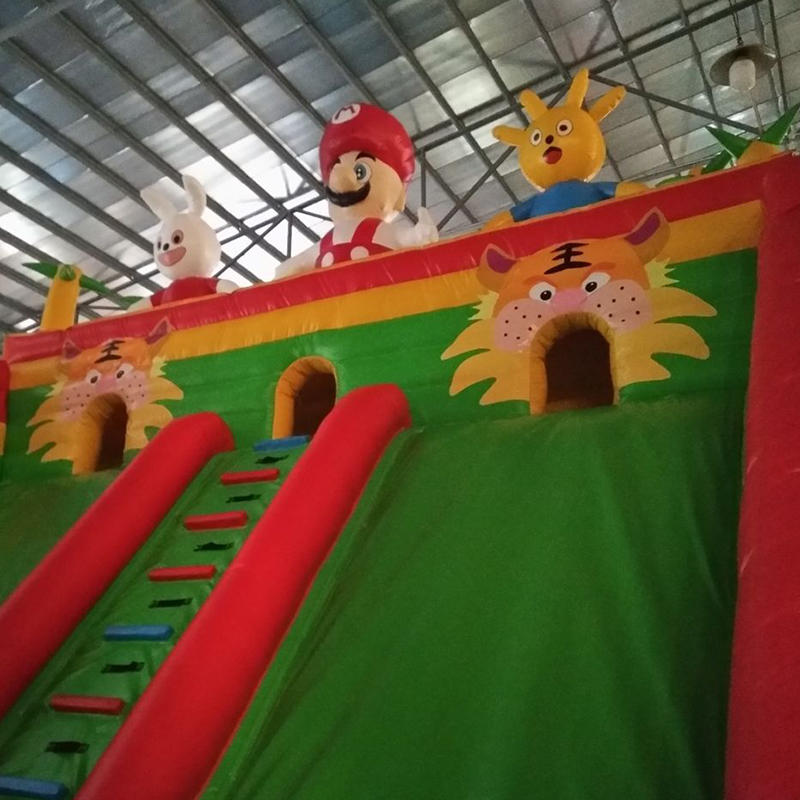 Custom designed inflatable slide castle combination
