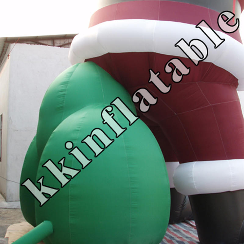 inflatable Santa Claus with logo
