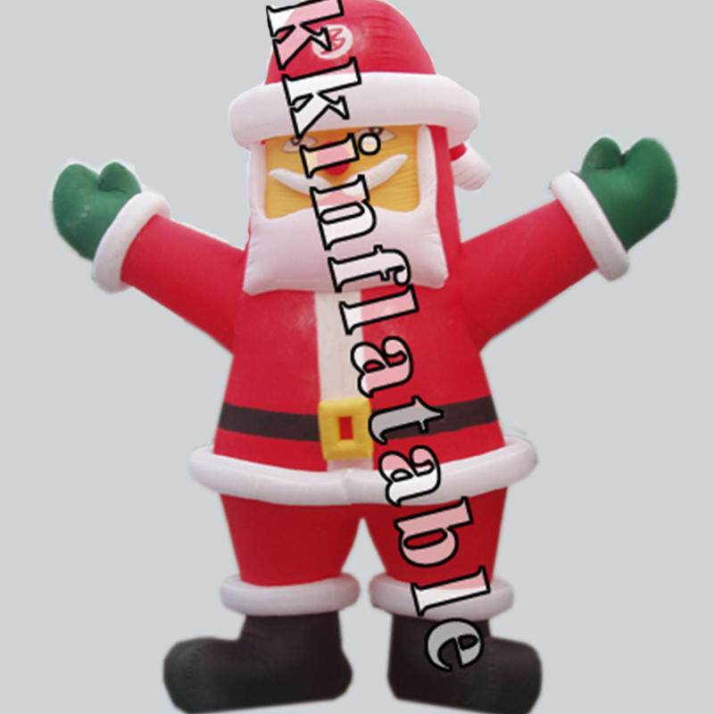inflatable Santa Claus with logo for shopping mall