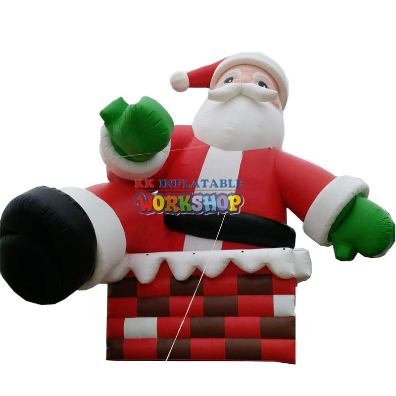 giant outdoor christmas decoration inflatable santa claus