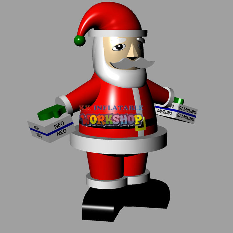 Inflatable Santa Claus model for Christmas party