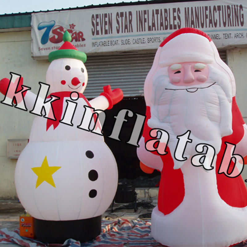 inflatable Christmas model Santa Claus, snowman, Christmas tree, house