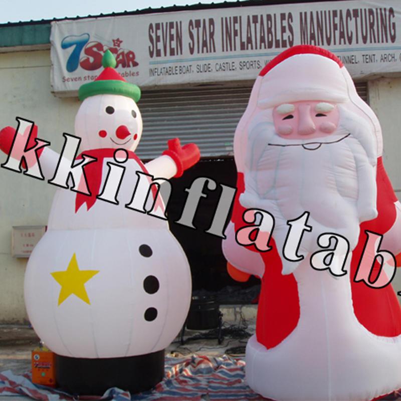 inflatable Christmas model Santa Claus, snowman, Christmas tree, house