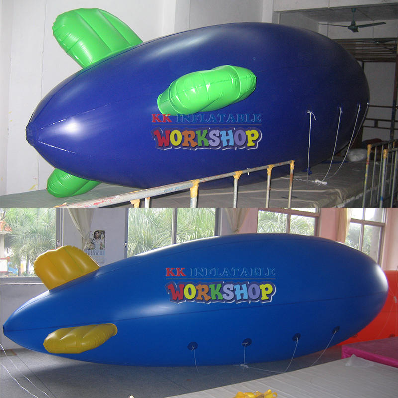 inflatable zeppelin helium blimp with logo for sale