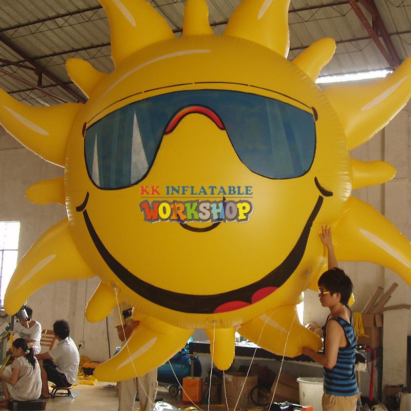 flying outdoor Inflatable sun balloon Advertising