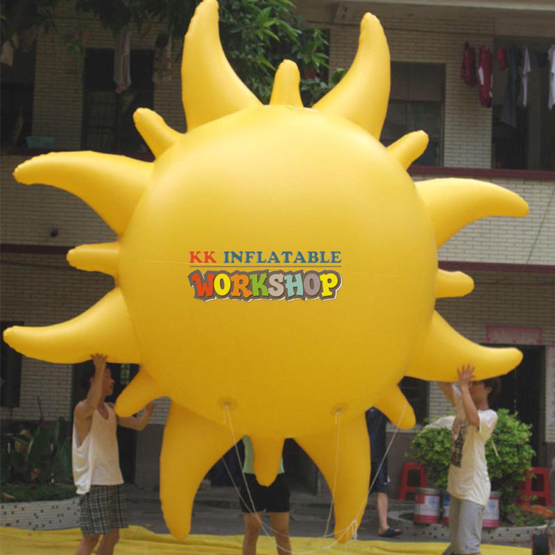 flying outdoor Inflatable sun balloon Advertising