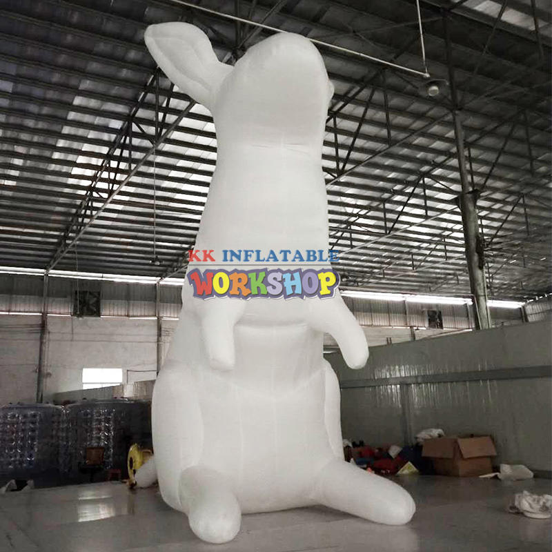 Popular outdoor white giant inflatable rabbit