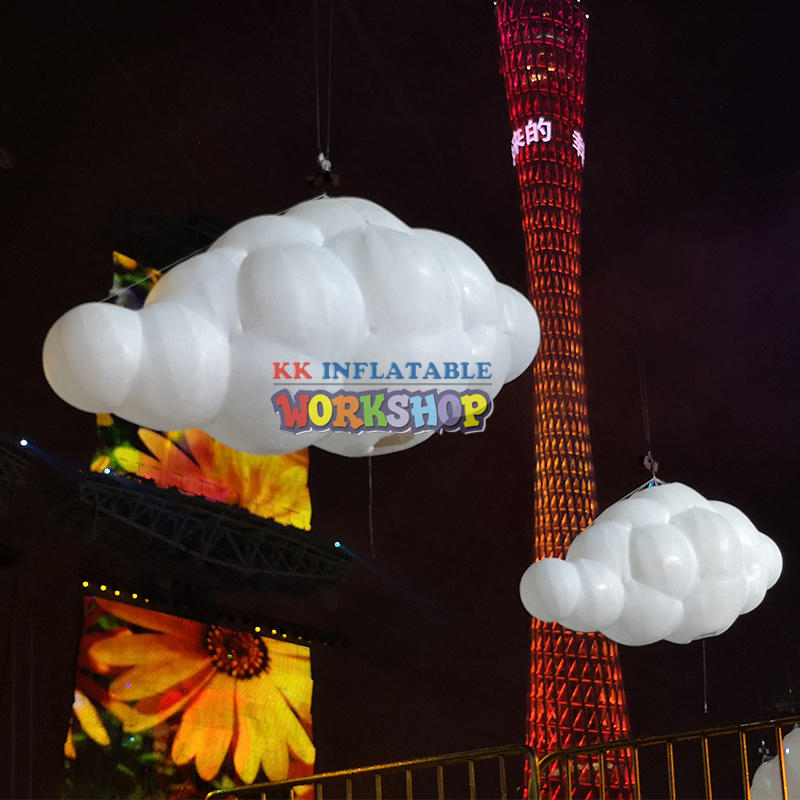 led lighting inflatable cloud party hanging