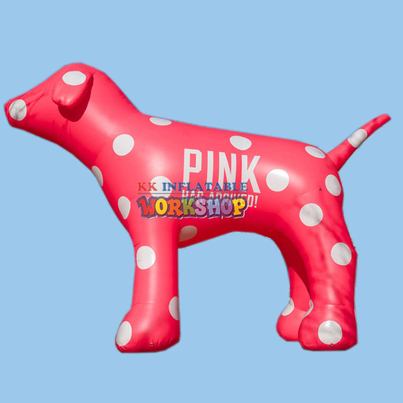 cute giant inflatable pink dog