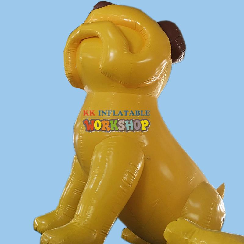 advertisement giant inflatable dog