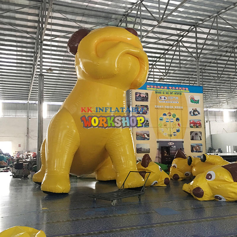 advertisement giant inflatable dog