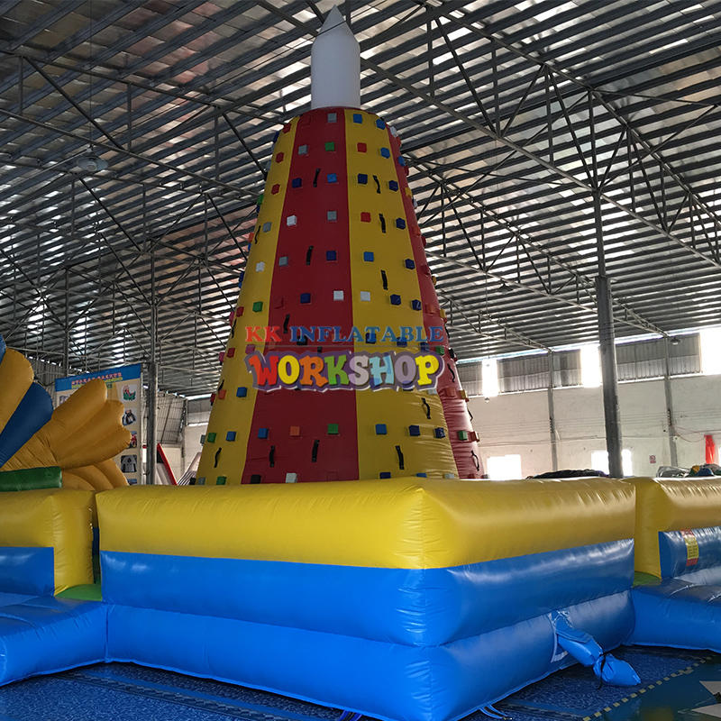 PVC large inflatable climbing wall