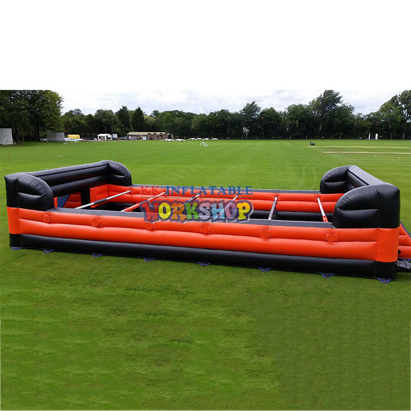 outdoor inflatable football field sport game