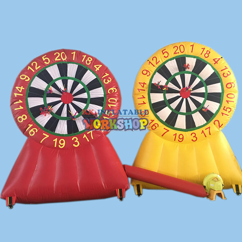 Giant inflatable dart board game