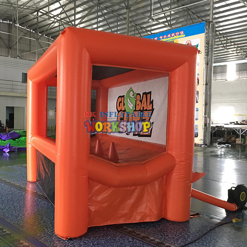 Interactive inflatable archery game