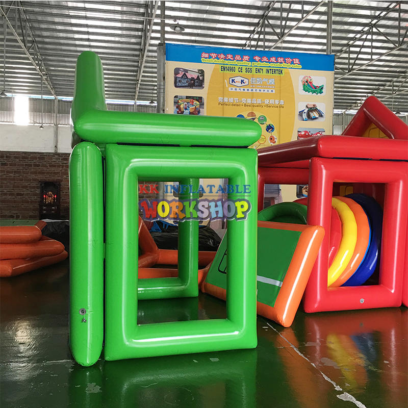 Custom inflatable stitching assembly house