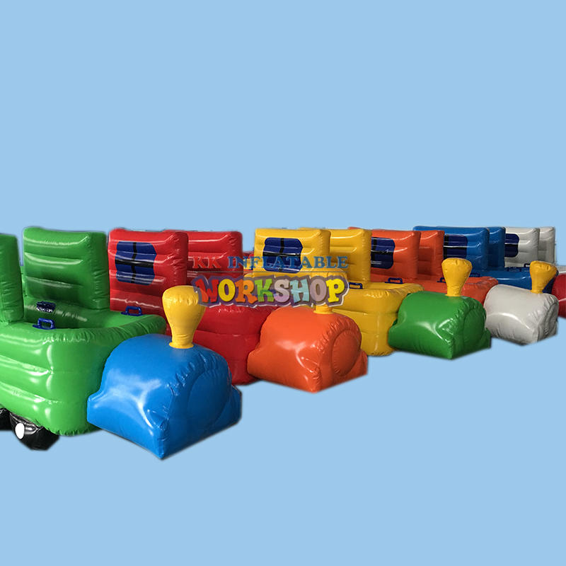 Color inflatable train children's toys