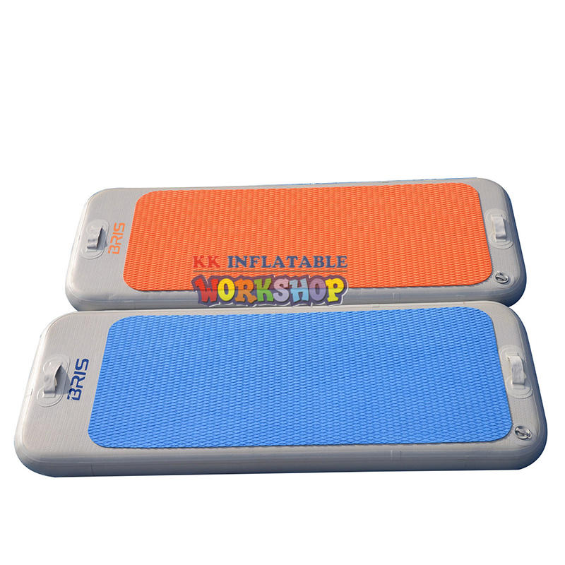 Portable multi-standard inflatable gymnastic mat