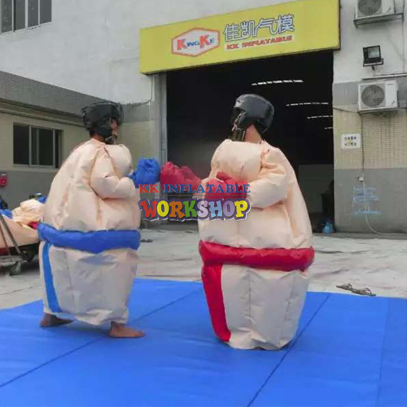 Durable pvc sumo suit costume sumo foam inflatable suit