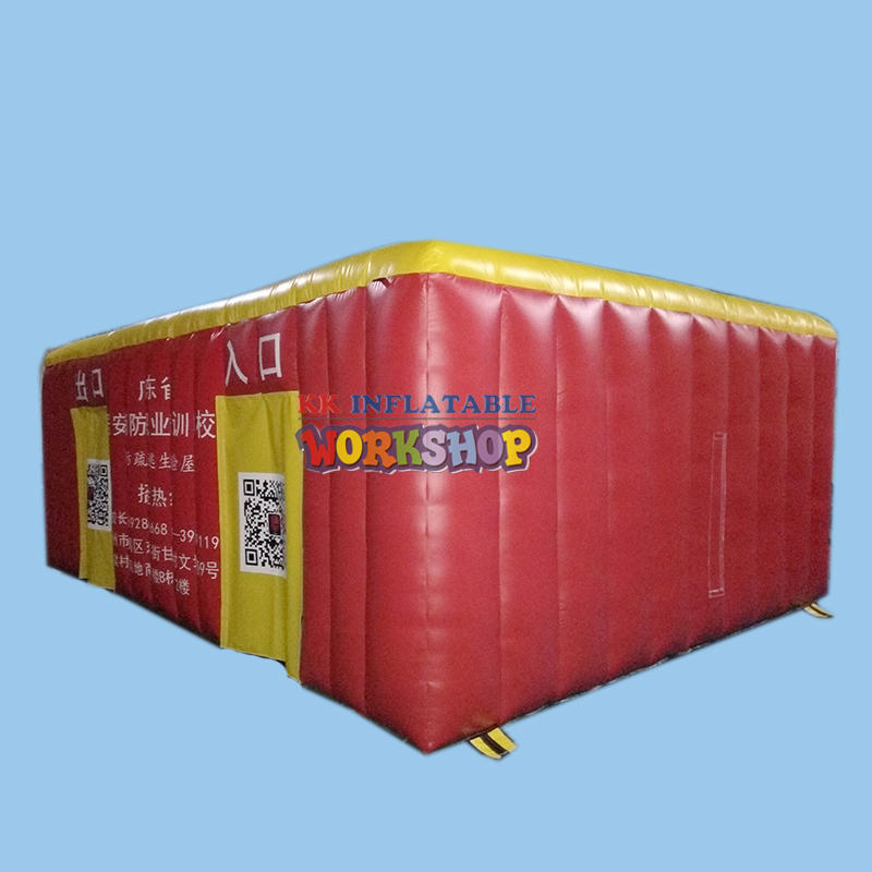 inflatable fire safety tent