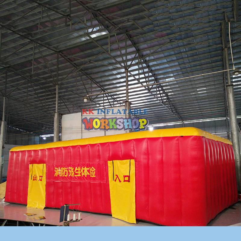 Children fire education tunnel imitation room inflatable fire tent
