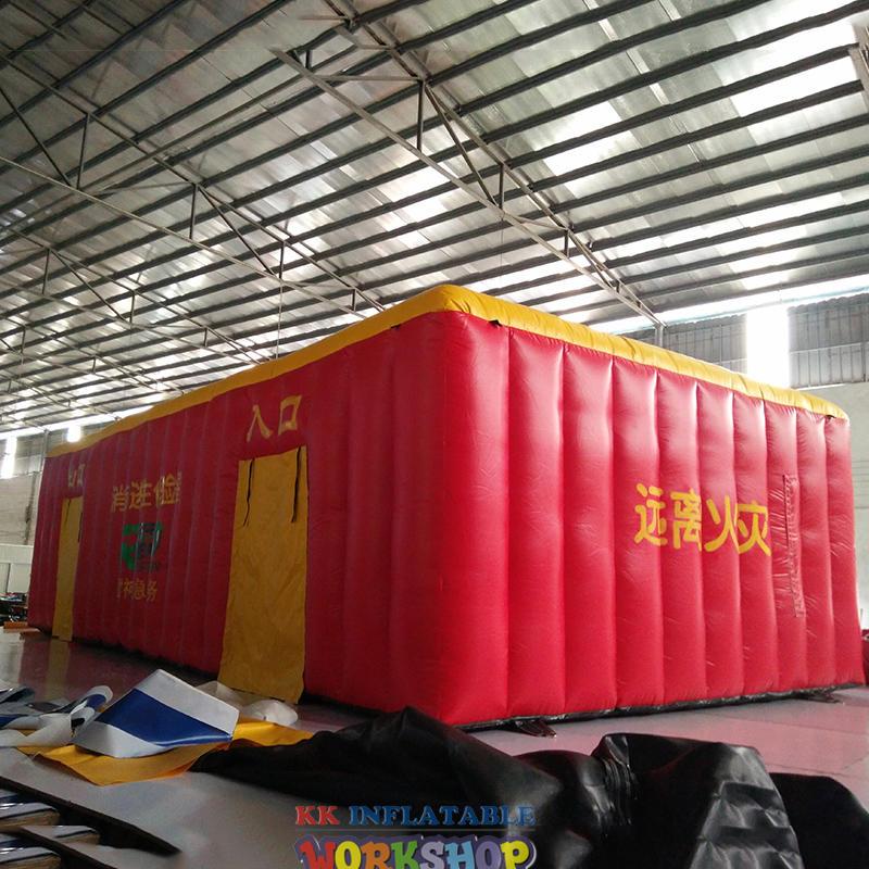 simulated smoke room escape tent
