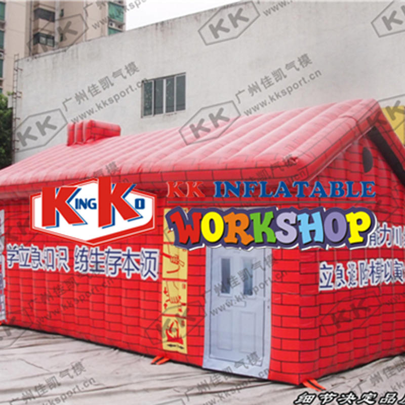 inflatable tent fire drill simulated smoke room