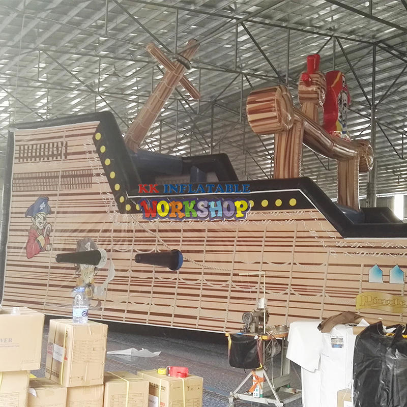 Commercial Use Inflatable Pirate Ship Slide