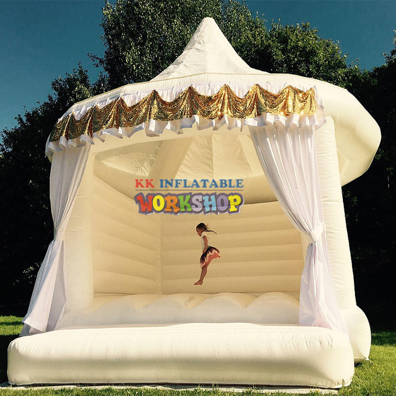 Home Used Commercial Jumping Inflatable Wedding Bouncer White Bounce House