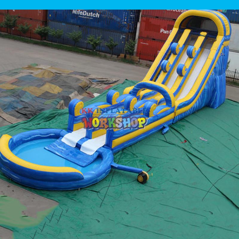 Outdoor Large Brainstorm inflatable Water Slide Slip N Slide with Pool
