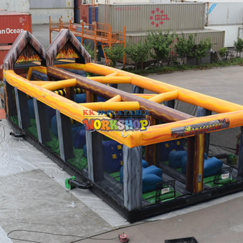 Kids challenge inflatable obstacle games bouncy castle inflatable obstacle course races