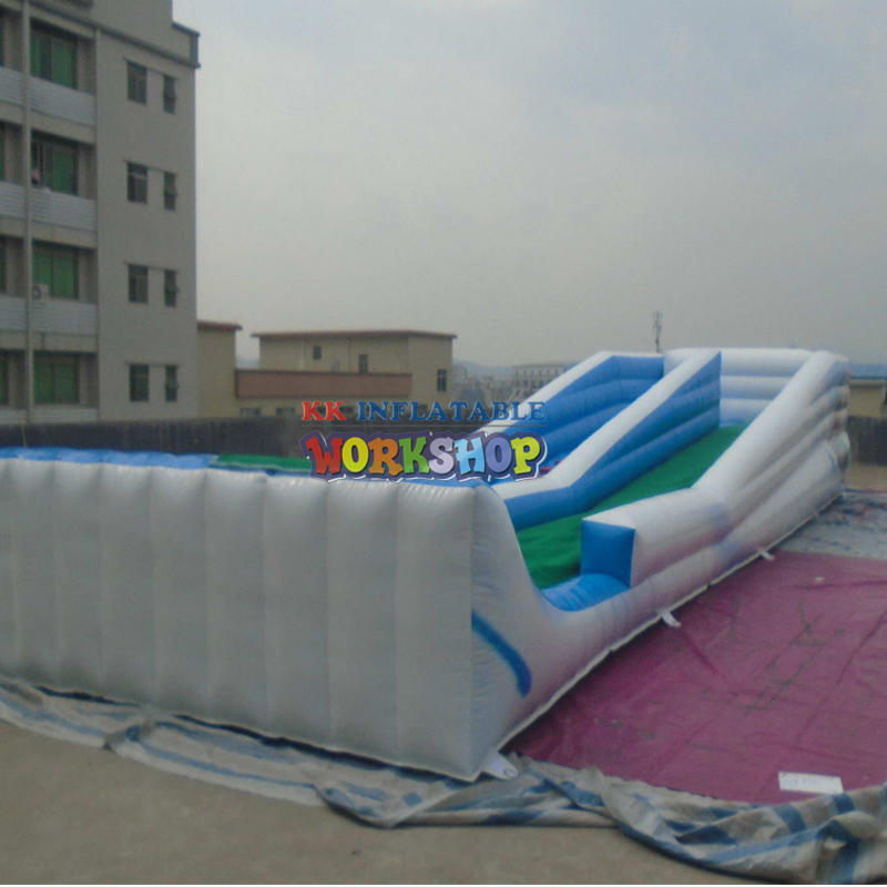 Long Inflatable Slideway Surfing Pool