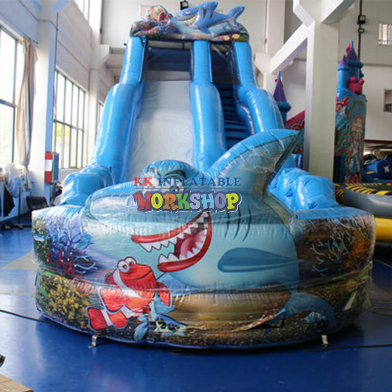 Super deal oceanworld water slides clearance, inflatable water slide with pool outdoor games