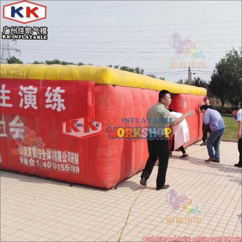Factory custom School earthquake fire disaster escape exercise Large inflatable fire fighting drill tent