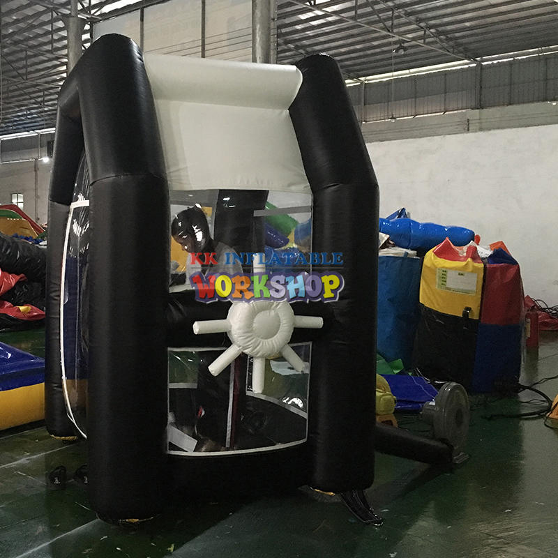 PVC Inflatable Cash Cube Money Grab Machine Booth with Air Blower for Advertising Event Promotion