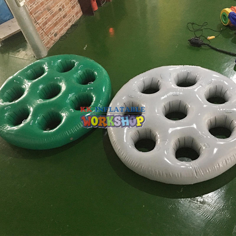 OEM PVC Tarpaulin Inflatable Running Sport Games With Many Round Hole Obstacles