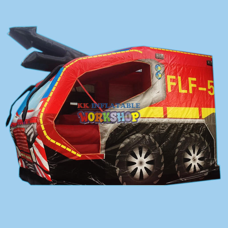 Fire Engine Bouncy Castle,Fire Truck inflatable obstacle course