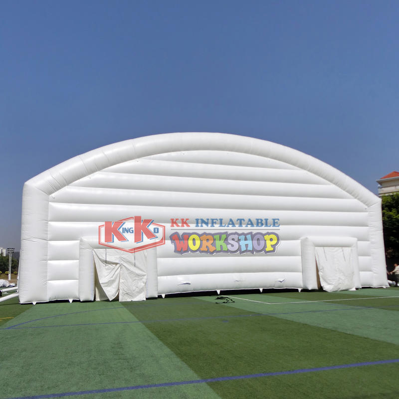 Giant outdoor white inflatable tent