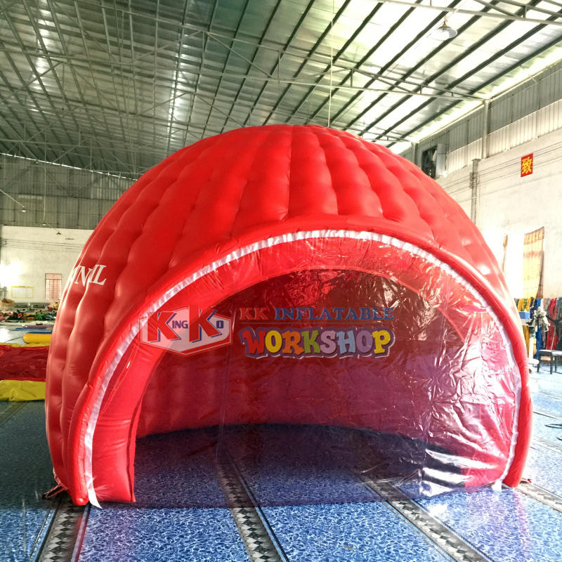 Red inflatable arch exhibition tent