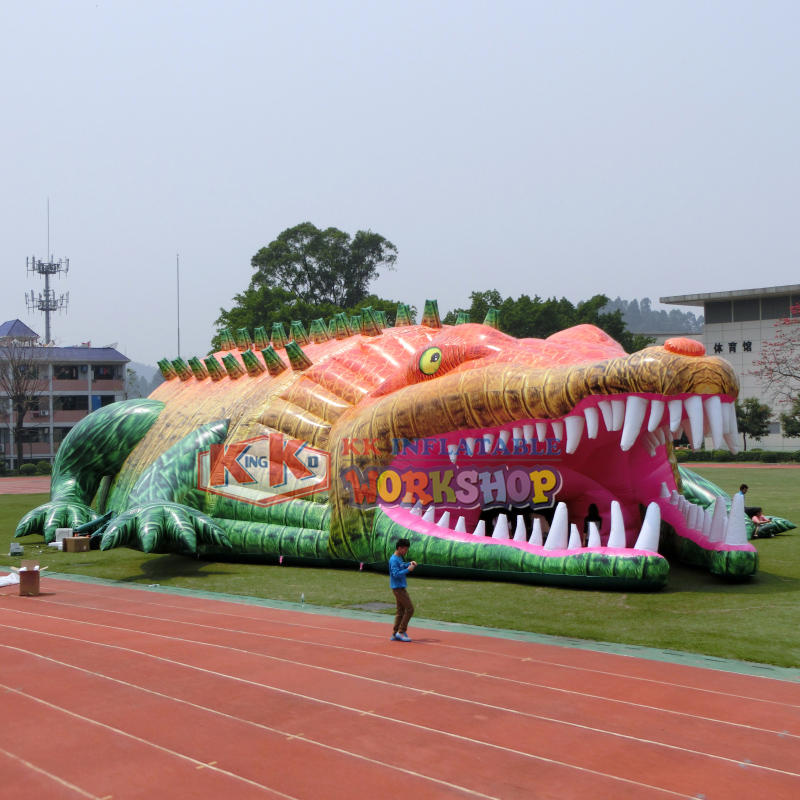 Large creative crocodile style inflatable huge tent