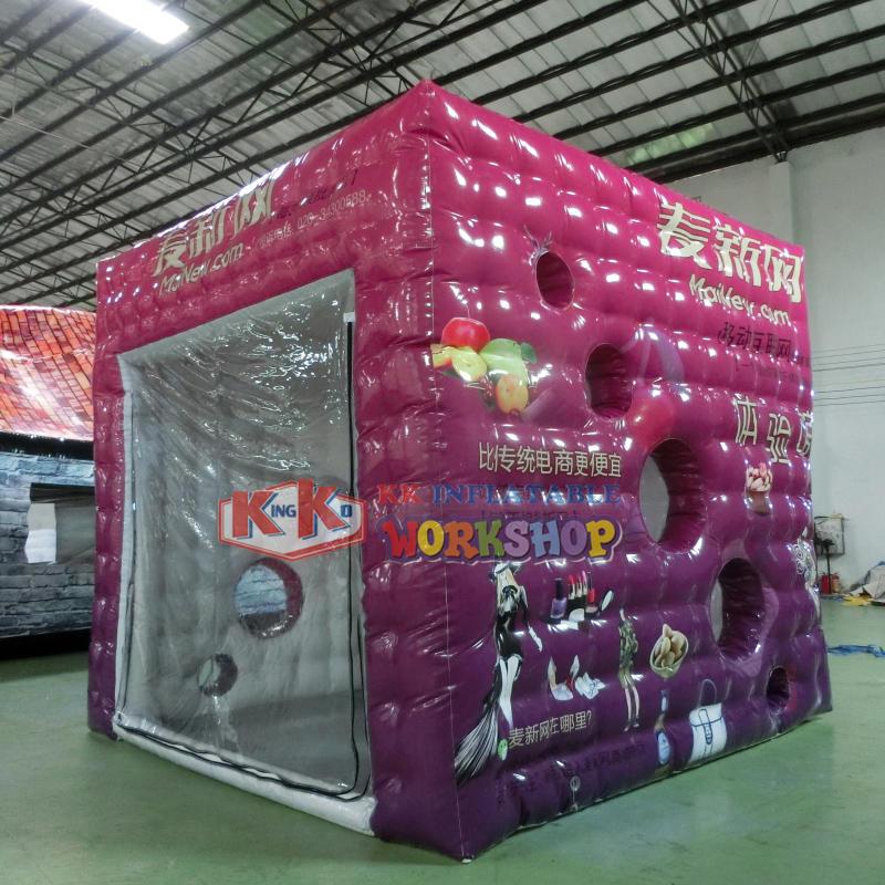 Multi-purpose inflatable advertising square tent