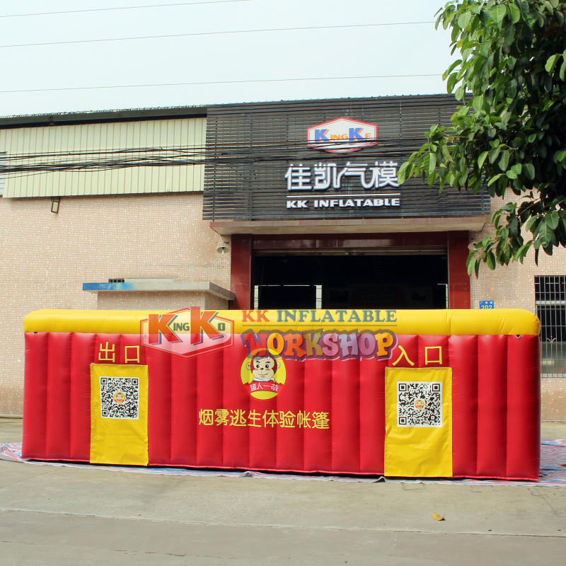 Inflatable Fire Tent Simulated smoke house